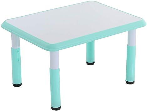 WFENG Juego de mesa y silla para niños Altura ajustable Aprendizaje Mesa de dibujo Actividades de kindergarten Comida en casa Fácil de limpiar/Azul/A: Amazon.es: Bricolaje y herramientas