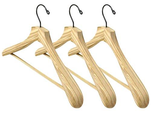 Iconikal Solid Ash Suit Hanger - 3 Pack
