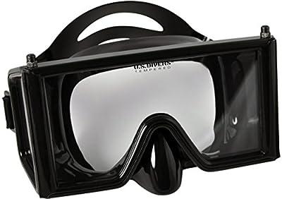 Aqua Lung Wraparound Three Window Mask, Black