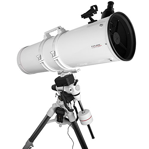 Explore Scientific FL-N2031000EXOS2GT Newtonian Telescope with Exos-2 Mount with Goto, 203mm, White by Explore Scientific