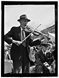 Vintography Reproduced Photo of Fiddler Mr. Ed. Lorkin for The Square Dances at The World39;s Fair at Tunbridge, Vermont 1941 Delano C Jack 13a