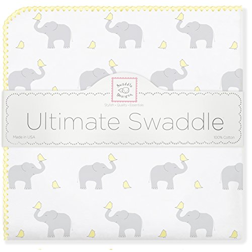 SwaddleDesigns Ultimate Swaddle Elephant Chickies