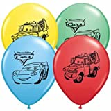 Disney Cars Balloons 12'' Pixar Latex Party Supplies Birthday 1 2 3 Decorations Lightning McQueen Tow Mate Mater Rayo, Package of 20 Assorted Set