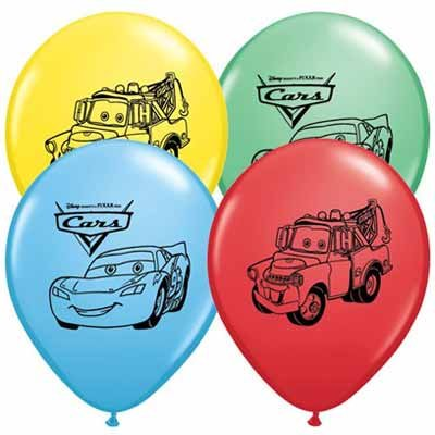 Disney Cars Balloons 12'' Pixar Latex Party Supplies Birthday 1 2 3 Decorations Lightning McQueen Tow Mate Mater Rayo, Package of 20 Assorted Set by Creative Wholesaler