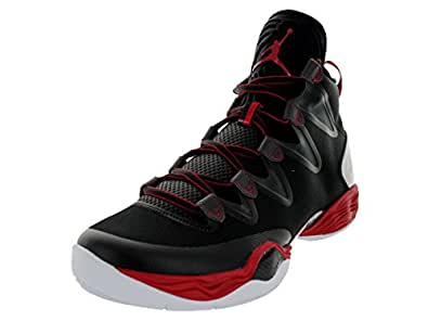 Nike Jordan Men's Air Jordan XX8 SE Black/White/Anthracite/Gym Red Basketball Shoe 11 Men US