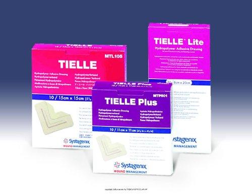 TIELLE PLUS Hydropolymer Dressing, Tielle Plus Hydro Drs 4X4, (1 BOX, 10 (Tielle Hydropolymer Adhesive Dressings)