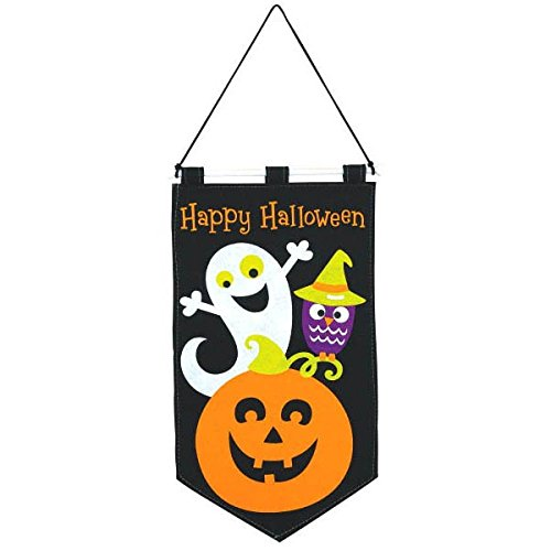 Amscan Halloween Trick or Treat Banner Family Friendly Party, Black, 19 1/2