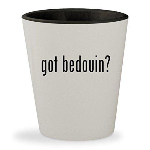 got bedouin? - White Outer & Black Inner Ceramic 1.5oz Shot Glass