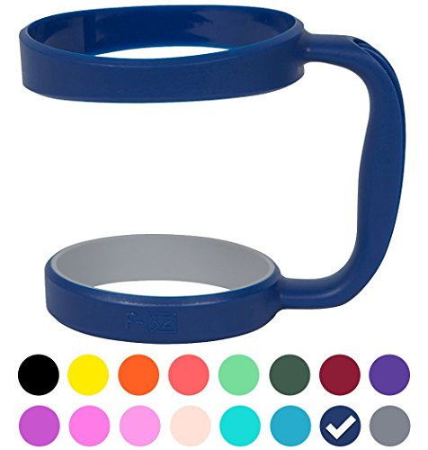 F-32 Color Handle available for 30oz or 20oz YETI Rambler, RTIC, OZARK TRAIL, SIC CUP Tumbler & more - 16 colors - Seafoam Blue Purple Hot Pink Gray Wine Neon Orange Green & more (30OZ, DEEP BLUE)