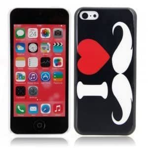 Stylish Plastic Protective Case with Mustache Pattern for iPhone 5C ?