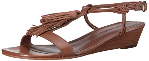 Bernardo Womens Court Wedge Sandal Luggage IJDSHG3