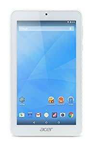 Acer Iconia One 7 B1-770 - Tablet 7'' IPS (Quad-Core A7, 1 GB RAM, 16 GB, ranura SD, cámara frontal 0.3 Mp y trasera 2 Mp, Android 5.0), Color Blanco