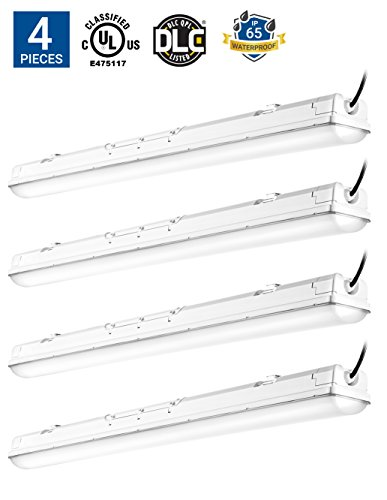 Hyperikon LED Vapor Proof Fixture 70W (150W Equivalent) LED Garage Lighting, 4000K Frosted Cover, 4Pack  by Hyperikon