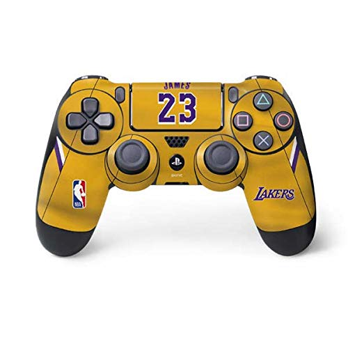 Skinit Lebron James Lakers Jersey PS4 Controller Skin - Officially Licensed NBA Players Gaming Decal - Ultra Thin, Lightweight Vinyl Decal Protection
