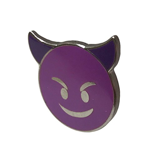 Devil Horns Purple Enamel Lapel Pin - Fun Trendy Accessory for Jacket T-Shirt Bag Hat Shoe