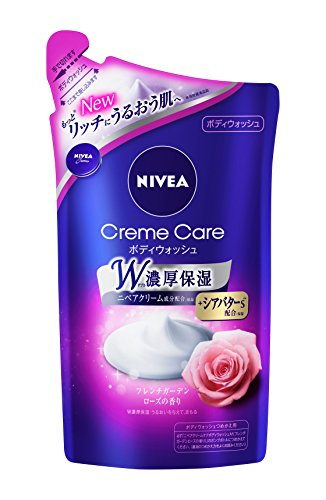 Japan Health and Personal Care - Nivea cream Care Body Wash French Rose Refill 360ml *AF27*