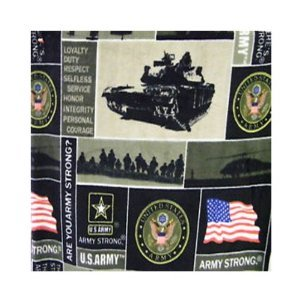 ArtOFabric Fleece Printed Army Strong Print Throw Blanket 58 Inch By 72 Inch