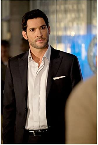 Lucifer Tom Ellis As Lucifer Head Tilted Slightly To The Left With Intense Stare 8 X 10 Inch Photo At Amazon S Entertainment Collectibles Store