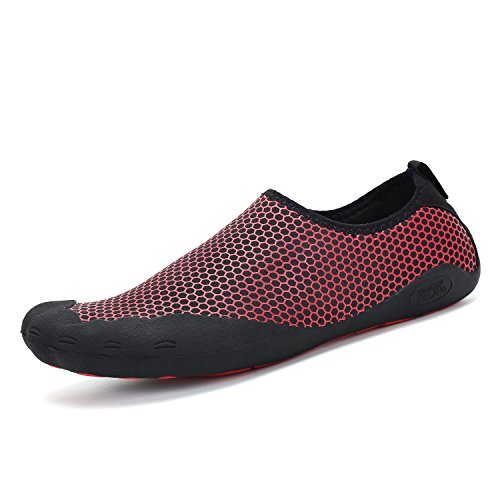 katliu Water Shoes for Men Hiking Barefoot Wide Quick Dry Womens Outdoor Non Slip Walking Shoe Z-red