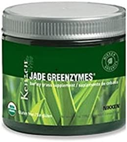Nikken Jade GreenZymes Barley Grass (15553) - Supplement for Strong Immune System, Maintain Blood Glucose and pH level, Organic, Kosher and Vegan certified, USDA Organic, Non Gluten , 50 Serving Jar
