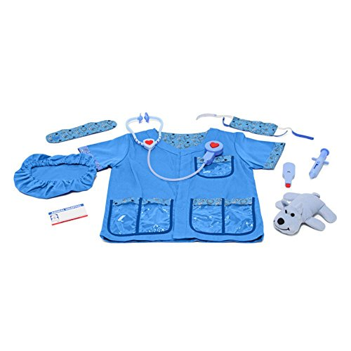 Melissa & Doug Veterinarian Role Play Costume Set (Costume Role Playset)
