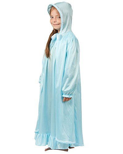 Laura Dare Girls Frozen Enchanted Ice Princess Elsa Hooded Robe, 8