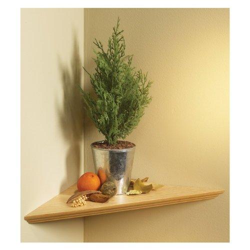 "KV Kitchen & Bath Storage EZC 17/1 OK Oak Instant Corner Shelves Single Pack, 17"" x 17"""