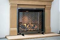 Modern Free Standing Glass Fireplace Scr...