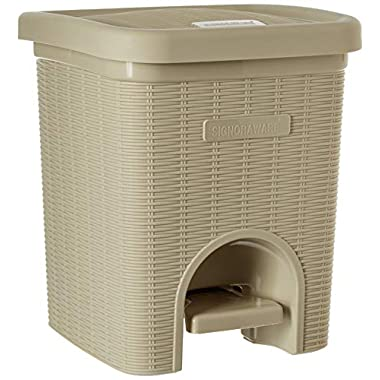 Signoraware Modern Lightweight Dustbin for Home and Office 12Ltr, Beige 8