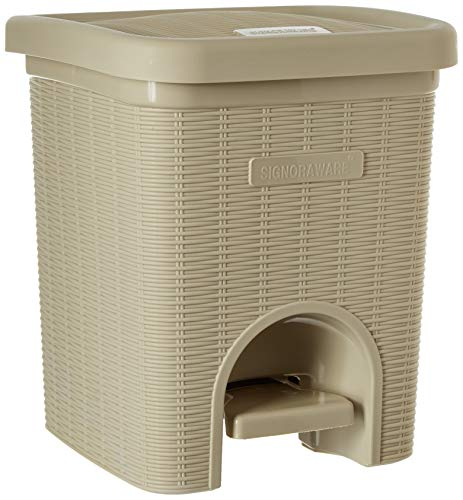 Signoraware Modern Lightweight Dustbin for Home and Office 12Ltr, Beige 1