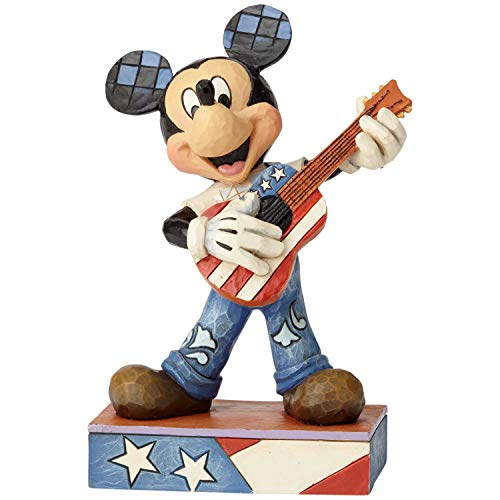 Enesco Disney Traditions by Jim Shore Rock and Roll Americana Mickey Mouse Figurine, 6.38 , Multicolor