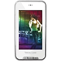 Visual Land V-Touch Pro 4 GB 3-Inch Touchscreen MP3 Player with TV Out, MicroSD and Camera (White)