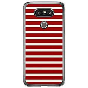 Loud Universe LG G5 Nautica Nautical 4 Transparent Edge Case - Red/White