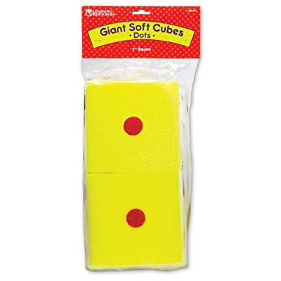 Giant Soft Cubes Dot 2/pk 5 Inch Cube Square: Toys & Games