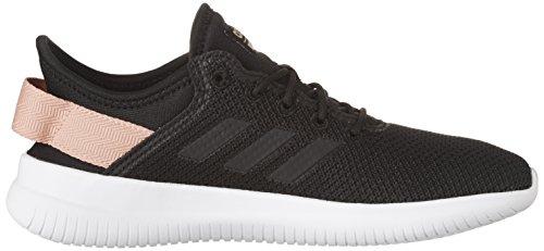 adidas Neo Women's CF Qtflex W Running Shoe, Black/Black/Trace Pink, 8 B(M) US