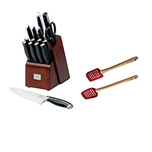 Premier Versatile 16 Piece Knife Block Set Comes With 2 Pieces Spatula Sets