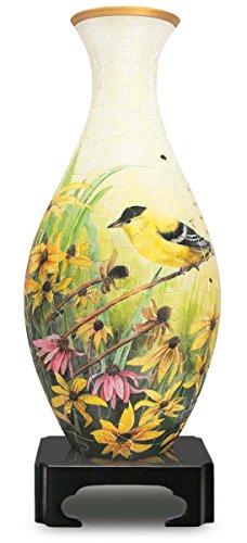"""3D Vase Shaped Puzzle 160 Pieces 4.5""""X9.5""""-Goldfinches"""