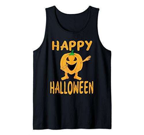 Happy Halloween Dabbing Dance Pumpkin Tank Top