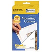Lineco Self-Adhesive Polypropylene Mounting Corners - 3 Clear (100/Pkg.)