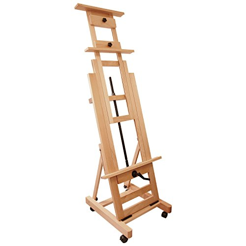 Price comparison product image US Art Supply Double Rocker Crank Heavy-Duty Wood Studio Floor Easel