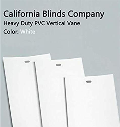 California Blinds Company PVC Vertical Blind Replacement Slat Smooth (White) You Pick Size and Quantity
