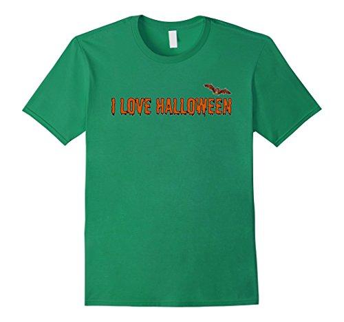 Non Scary Costume Ideas (Mens Family Friendly Costume Idea I Love Halloween T-Shirt Medium Kelly Green)