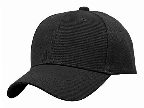 TOP HEADWEAR TopHeadwear Blank Kids Youth Baseball Adjustable Hook and Loop Closure Hat