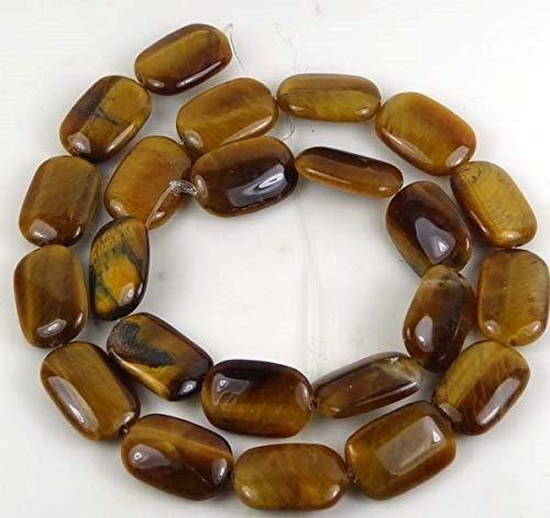 18x12mm Tiger Eye Rectangle Beads 16