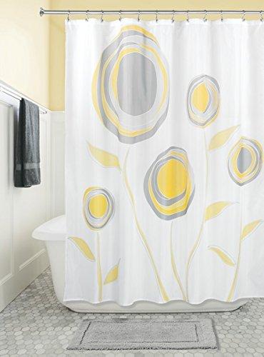 mDesign Zinnia Fabric Shower Curtain - 72