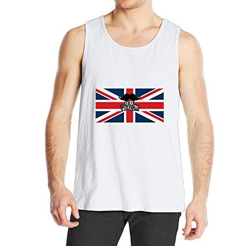 (SAXON Funny Sport Jacket For Men Sex Pistols American Flag Size L White)