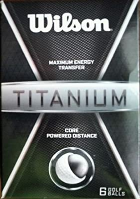 Wilson Titanium Distance Golf Balls 6-pack