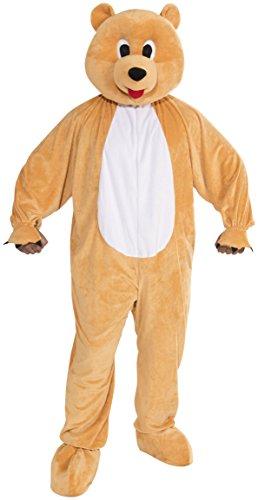 Forum Novelties Bear Mascot Teen Costume, Tan -