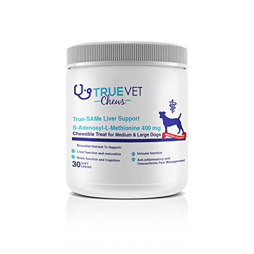 True-Same Liver Support Chewable Treat 400MG 30ct - Cats and Dogs - S-Adenosyl-L-Methionine - Soft chew