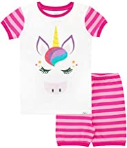 Harry Bear Girls Unicorn Short Pajamas